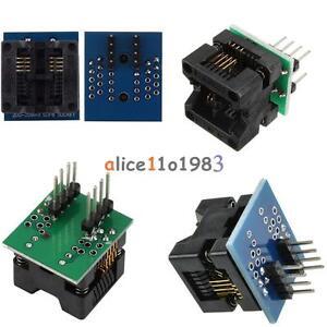200mil SOIC 8 SOP8 à DIP8 Programmeur Adaptateur Socket Converter ATTiny 8