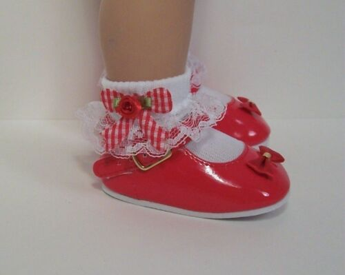 RED Patent Mary Jane Doll Shoes w//Satin Bow For Chatty Cathy Debs