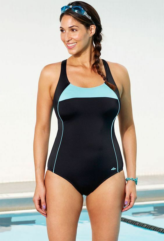 NEW    AQUABELLE SZ 12 CHLORINE RESISITANT SPORT SWIMSUIT-TUMMY CONTROL f3ebd3