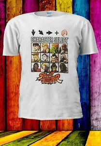 STREET-FIGHTER-caratteri-selezionare-lotta-finale-Uomini-Donne-Unisex-T-shirt-992