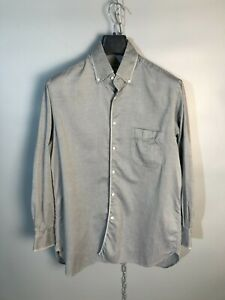 ZILLI-Mens-Long-Sleeve-Button-Up-Collared-Shirt-Size-41-L