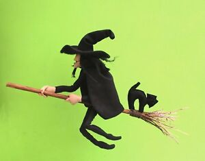 Witch-cloth-doll-sewing-pattern-Mistress-Cackle-complete-with-broom-and-cat