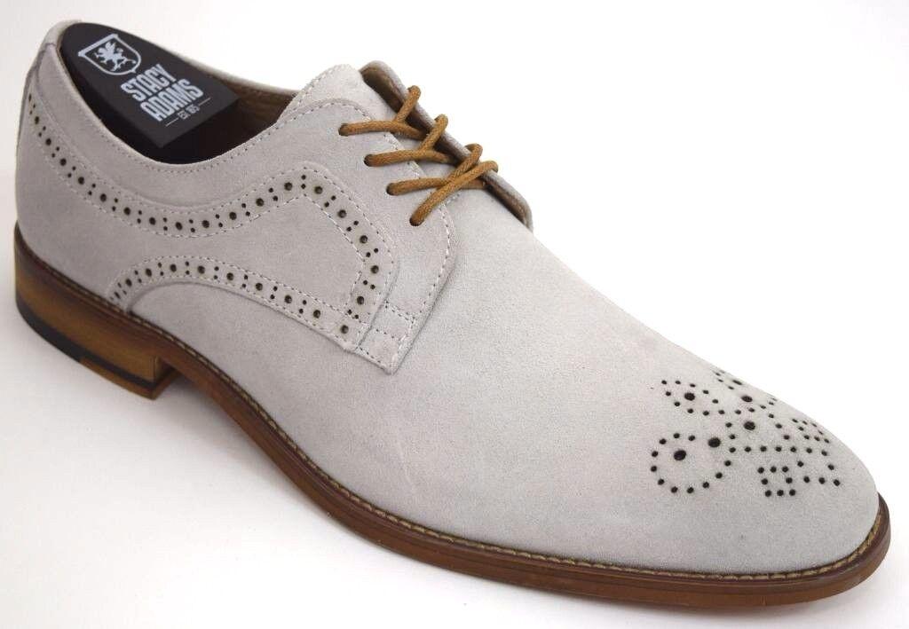 ti renderà soddisfatto Uomo STACY ADAMS Dress scarpe Plain Toe Oxford Chalk Leather Leather Leather Suede DUNSTAN 25094  acquistare ora