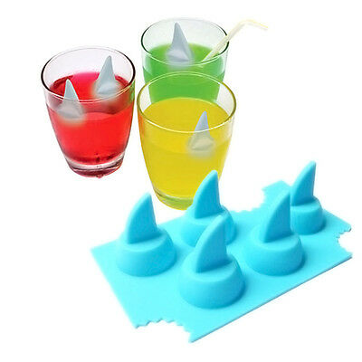 Silicone Ice Cube Shark Fin Tray Bar Party Jelly Chocolate Cake Maker Mould Mold