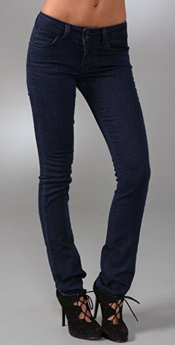 Paige Ladies Hidden Hills Dark bluee Straight Leg Jeans Size 29 RRP