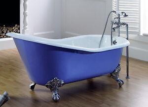 Retro Badewanne Lavendel Freistehend Gußeisen Emailliert Farbe