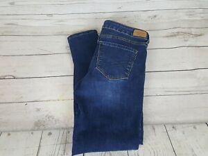 Aeropostale-Blue-Wash-Jegging-Stretch-Distressed-Skinny-Fit-Women-Jeans-Size-6S