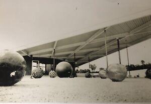 60s-Mid-Century-Deco-Art-Palm-Springs-19-X-12-Print-Modern-Gas-Station-B-W