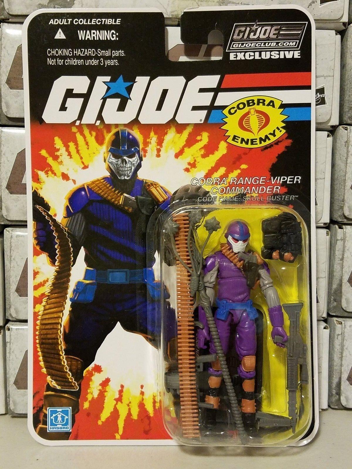 GI Joe Collector's Club FSS 2.0 Range Viper Commander Skullbuster NEW/SEALED