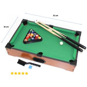mini-Billardtisch-komplett-Set-Tisch-Aufsatz-Pool-Billard-Spiel-Holz-hell-ads2