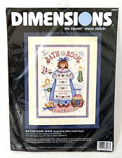 Dimension Bathroom Sign No Count Cross Stitch Kit Bath Decor Debra Jordan Bryan