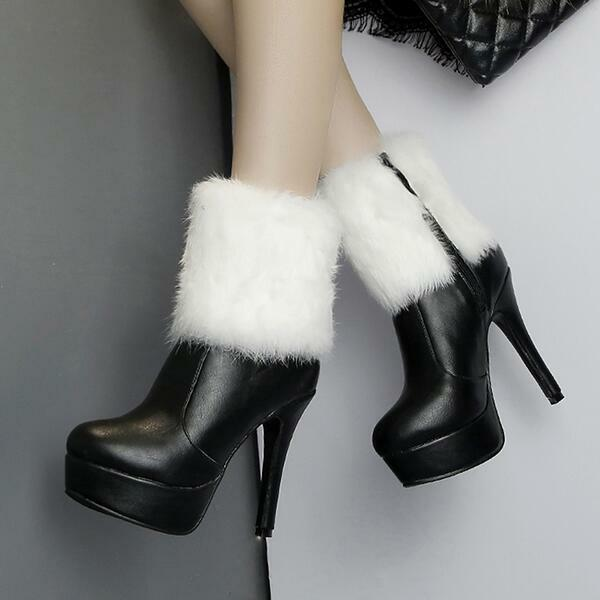 stivali stivaletti bassi scarpe stiletto 12 cm nero eleganti simil pelle 9489