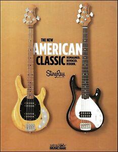 Ernie Ball Music Man Stingray Bass Guitar New 2019 ad 8 x 11