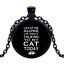 Vintage seulement parler À mon chat noir cabochon verre Chaîne Collier Sautoir Pendentif