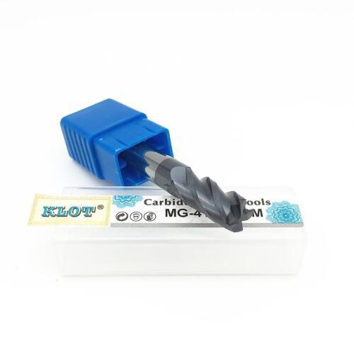 KLOT HRC50 Corner Radius ALTiN Coated Solid Carbide End Mill 3mm-8mm 4-Flute CNC