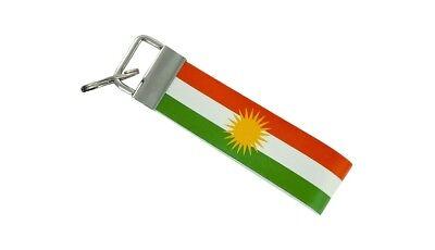 Keychain stripe key lanyard flag keyring ring car jdm band remote kurdistan