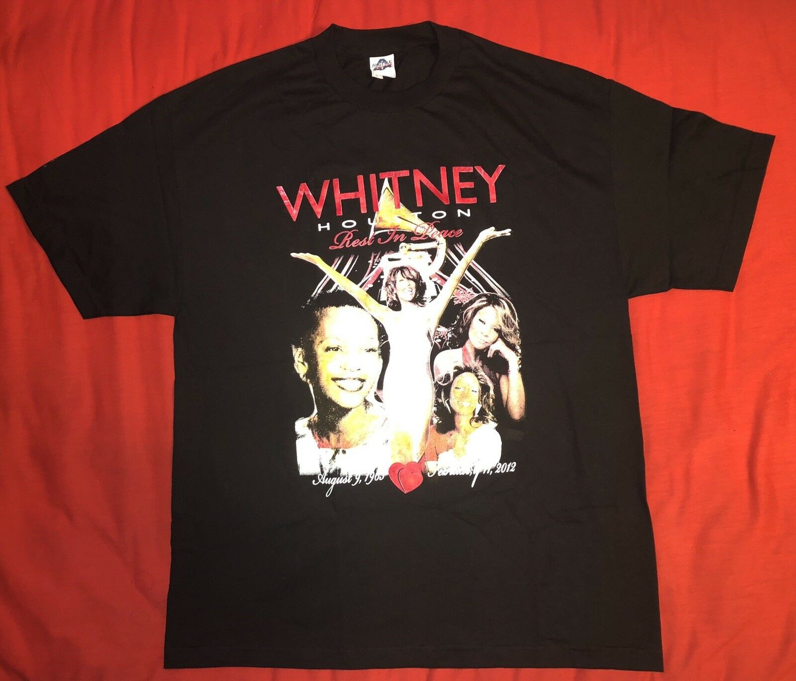 Rare Whitney House Rest In Piece Memorial T-shirt  Herren Sz XL New Double Sided