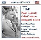 Vernon Duke: Piano Concerto; Cello Concerto; Homage to Boston (CD, Nov-2007, Naxos (Distributor))