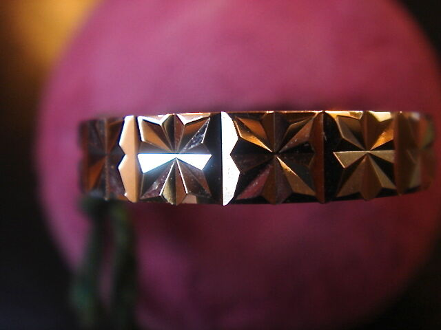 Wedding Ring Diamantee 4 mm Gold Plated Laminee Made in France Vintage New T 64