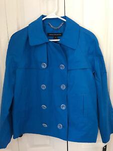 Jacket Medium Forbindelse Shocking Frakke Kvinder Blue Størrelse Fransk Ny Nwt IxzPwwY