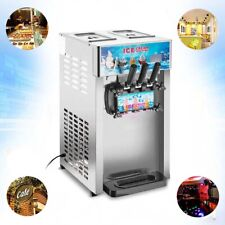 110v Tabletop 3 Flavor Soft Ice Cream Machine With Led Display For Dessert Shop