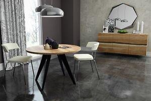 Esstisch modern rund  runder Tisch rund Esstisch Akazie massiv Massivholztisch Modern ...