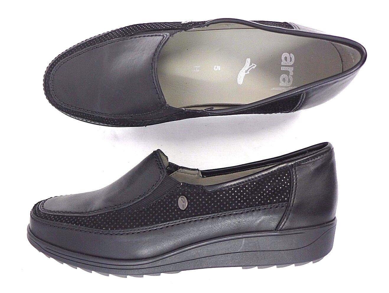 Ara Damen Slipper schwarz 6 Größe 5 5,5 6 schwarz 7 38 - 41 Leder lose Einlage Komfort 6b39d3