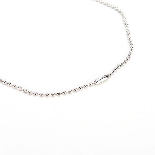 1 x Collier lame de rasoir argent en acier inoxydable pendentif Dog tag Chain