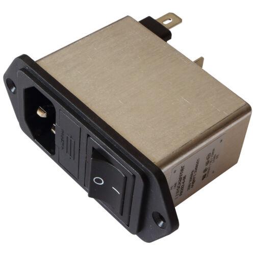 Schaffner FN282-4-06 Netzfilter 250V AC 4A IEC Inlet-Filter Fuse Switch 855204