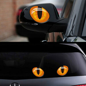 Adesivo-sticker-OCCHI-GATTO-decalcomania-vinile-auto-camion-car-tuning-occhio-3D