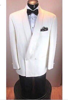Active Ivory Double Breasted Mens Tuxedo Coat 60 Long Coats & Jackets