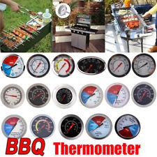 Grillthermometer Racing Edelstahl Smoker BBQ Räucherofen Thermometer DE #S
