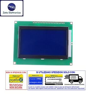 DISPLAY LCD 128x64 12864 BLU GRAFICO QC1286B MODULO PER ARDUINO RETROILLUMINATO.