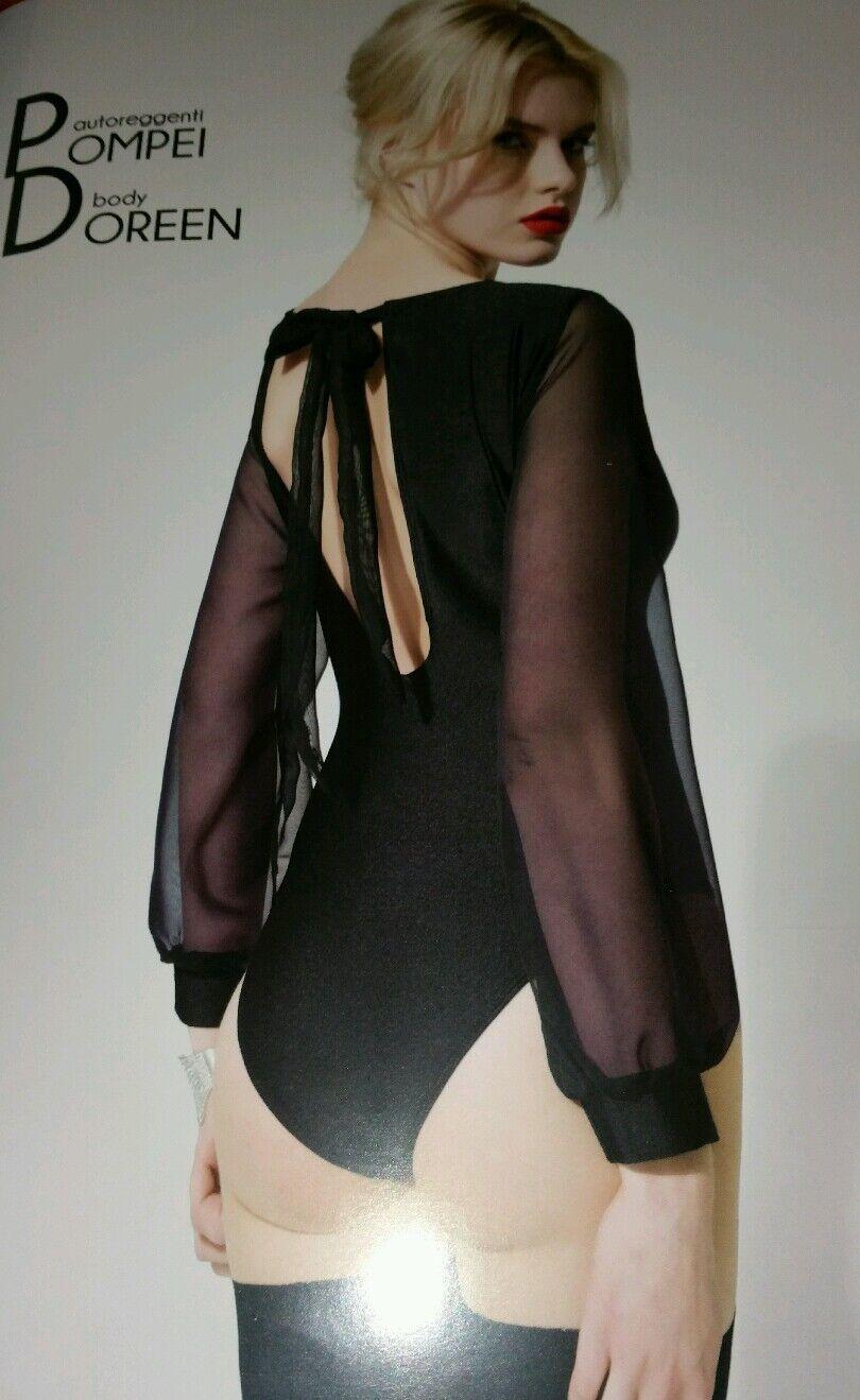 Edel & sexy Qualitäts Body Trasparenze Doreen bluese Gr.S M 36-42 bluesenbody