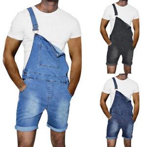 2019 Men Overalls Jeans Shorts Summer Denim Pants Jumpsuits
