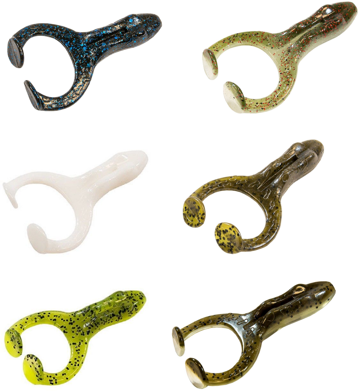1529 Zman Soft Lure Finesse FrogZ 2.75 Inch 4 per pack Mud Minnow