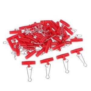 50Pcs-tete-en-plastique-avec-hooked-snap-Lest-Diapositive-Emerillons-De-Peche-Connecteur