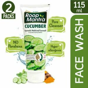 Roop-Mantra-Cucumber-Herbal-Face-Wash-115ml-Pack-of-2-Free-Shipping