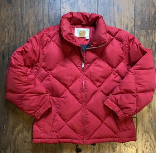 Eddie Bauer Red Puffer Jacket