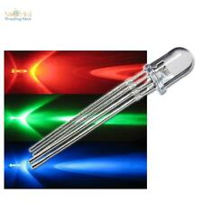 100 LEDs 4-polig Rot Grün Blau 5mm wasserklar RGB Leuchtdioden steuerbar