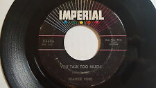 FRANKIE FORD - If You've Got Troubles / You Talk Too Much 1960 R&B Rock IMPERIAL