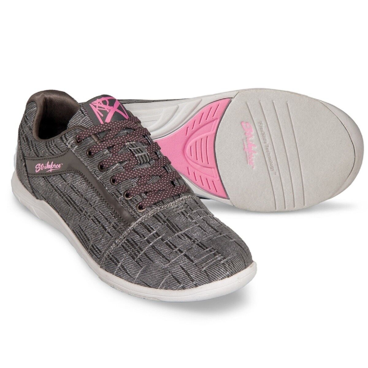 Women's KR NOVA LITE Grey with Pink Highlights Bowling shoes Size 6 - 11