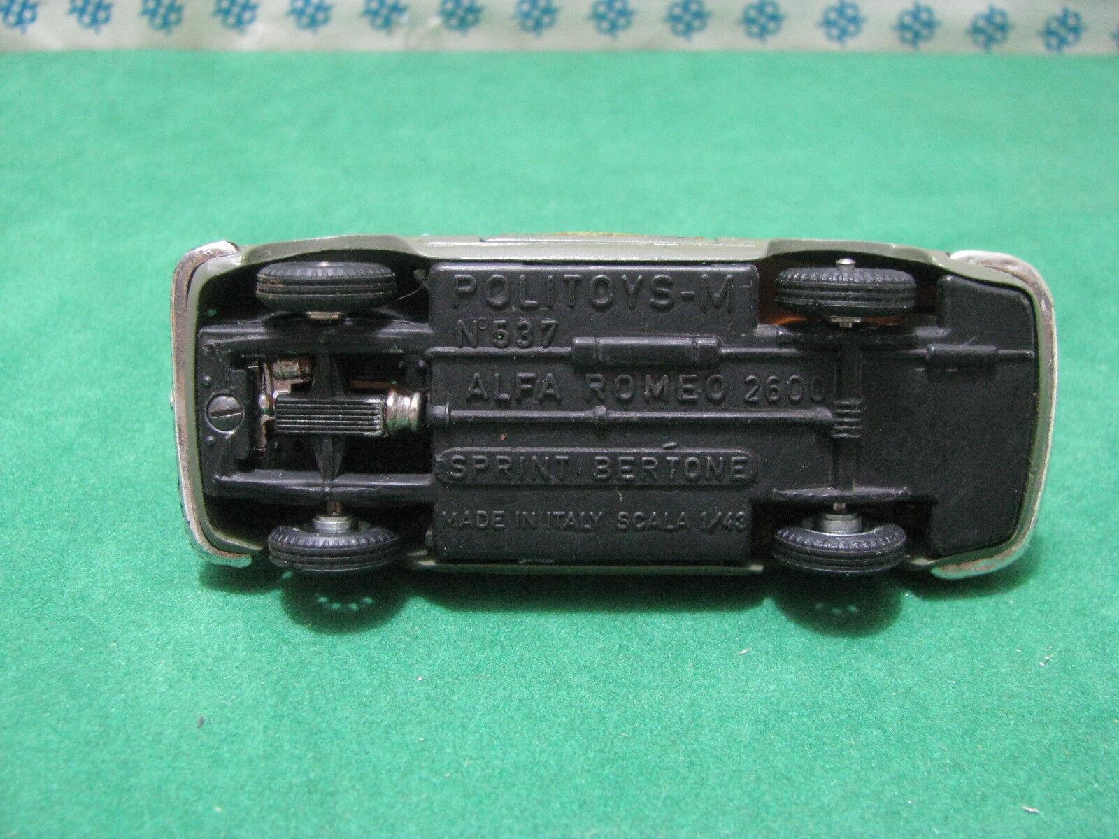 Vintage   ALFA ROMEO ROMEO ROMEO  2600 Sprint  Squadra Mobile 1/43  Politoys-M537 | à Prix Réduits  99a073