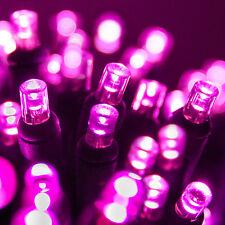100 count 5 mm LED Christmas Valentines Light String Pink Color