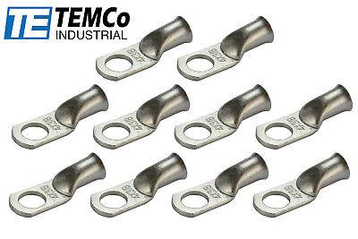 100 Lot 1 AWG 1/2 Hole Ring Terminal Lug Tin Plated