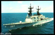 USS Spruance DD-963 Destroyer postcard  US Navy warship (card 2)