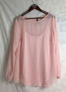 AVA-amp-VIV-Light-Pink-Long-Sleeve-Blouse-2PC-XL