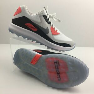 f33977625c Nike Air Zoom 90 IT Infrared Womens Golf Shoes 844648-100 White Grey ...