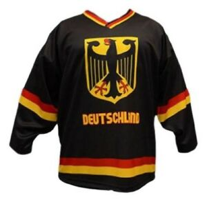 Any Name Number Size Team Germany Custom Hockey Jersey Black