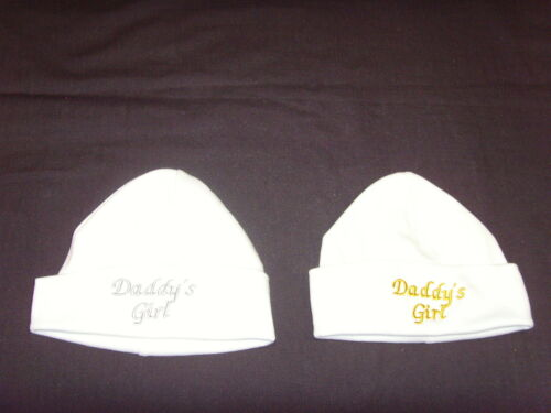Baby 100/% Cotton Embroidered Personalised Hat With The Saying Daddy/'s Girl